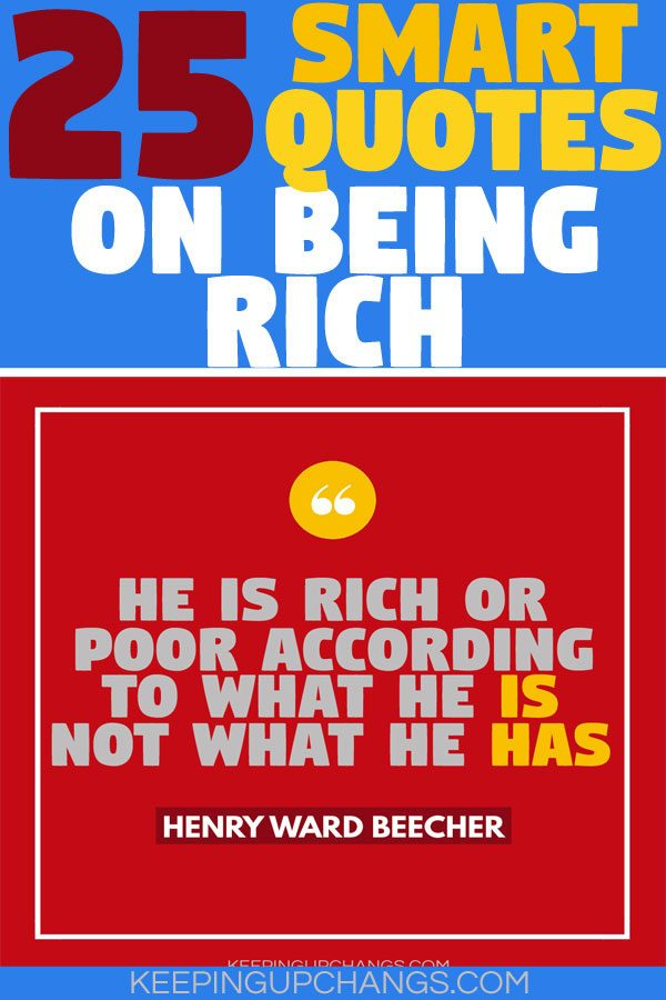 smart quotes on being rich