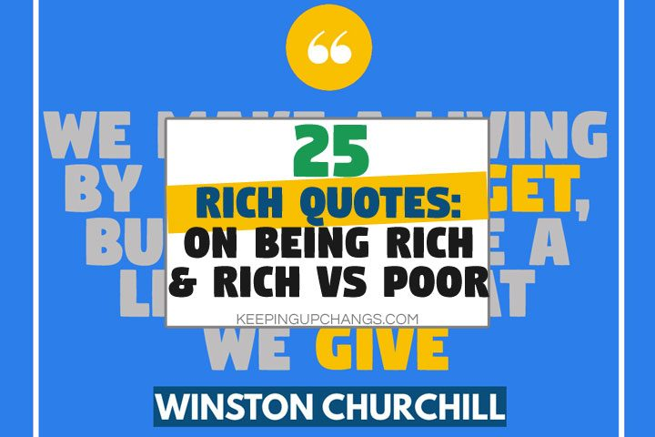 rich quotes on being rich and rich vs poor