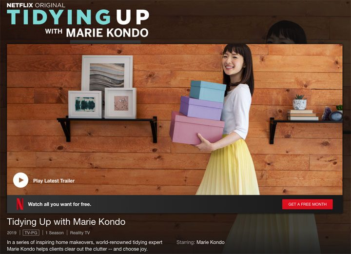 netflix marie kondo's tidying up your home screenshot
