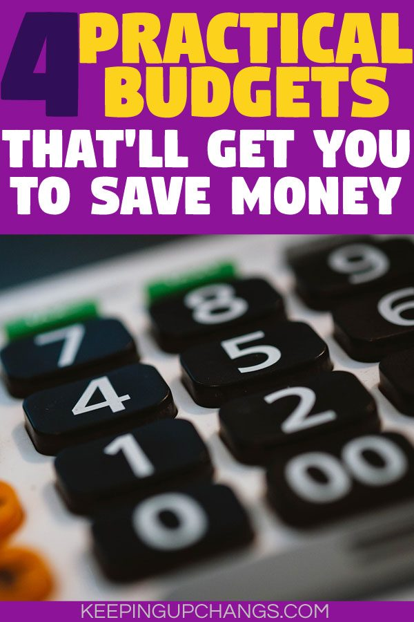 practical budgets to get you to save money atop calculator