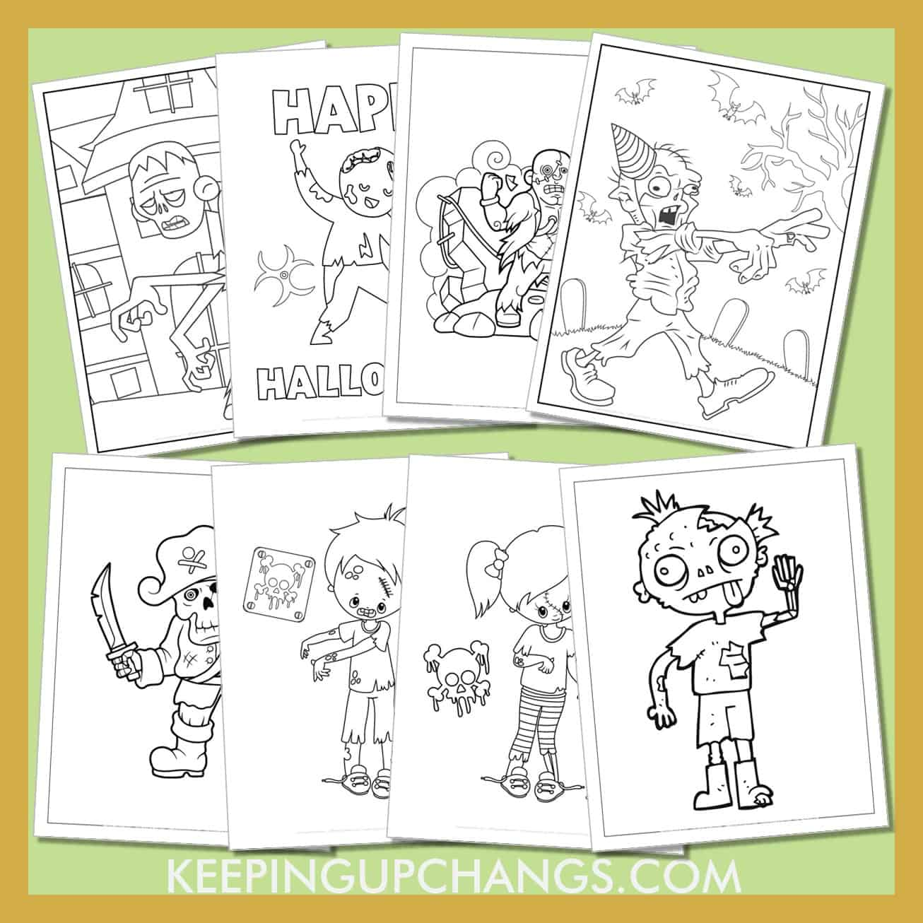 zombie colouring sheets including realistic, scary, cute, scary designs and more.